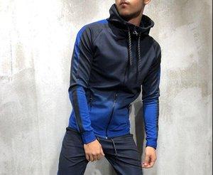 C4YUn 3D gradient cardigan hip-hop leisure sports sweater male 3D gradient zipper cardigan hip-hop leisure sports sweater male sweatshirt zi