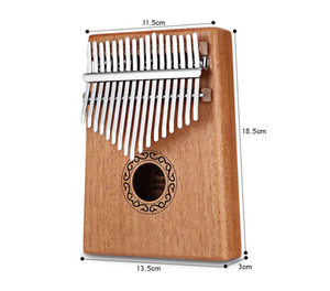 17 Keys Kalimba 17 African Thumb Piano Finger Percussion Keyboard Music Instruments Kids Mahogany Body Musical Instrument