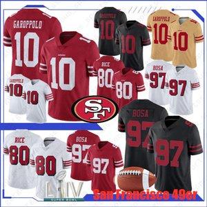10 Jimmy Garoppolo 2020 San Francisco maglie 97 Nick Bosa 85 George Kittle 80 Jerry Rice 49er 56 Ruben Foster 16 Joe Montana