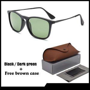 Vente en gros - 2020 Mode Vintage Lunettes de soleil rondes Hommes Femmes Marque Designer Retro Cat Eye Sunglasses Gafas Oculos De Sol avec des cas et la boîte