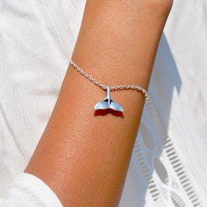 Mücevher Bilezik Kadınlar Fishtail Bilezik Basit Bilezikler Moda Çocuk Takı Şık Gümüş Renk Moda Metal Bransoletka