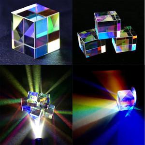 32*32 * 32mm 6 lados Cruz dicróico X-Cubo Prism Combiner Splitter vidro Prism ferramentas pedagógicas Decorações Prism
