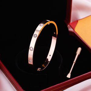 Acero inoxidable carter love brazaletes plata oro rosa oro tornillo pulsera brazalete destornillador brazalete mujeres hombres brazaletes pulseras