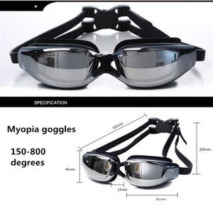 All'ingrosso-miopia occhiali di protezione dell'acqua di nuoto Sport HD impermeabile occhiali antinebbia che nuotano gli occhiali da corsa Goggles placcatura miopia e l'imballaggio del contenitore