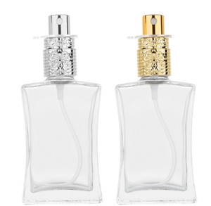 2020 new 50ml transparent Glass Perfume Bottles Empty Spray Atomizer Refillable Bottle Scent Case with Travel Portable