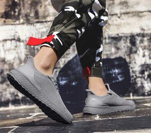 2019 summer new casual shoes men's trend breathable plus size casual shoes l flying woven shoes men's saiz 36-45