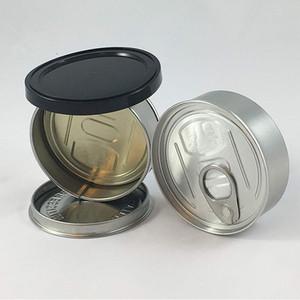 Atum Latas 100ml tampas pretas incluído estanho estirpe pode 100ml herb recipiente de concentrado de armazenamento