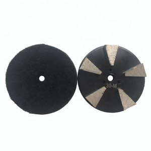 KD-V40 9 Pieces 3 Inch D80mm Back Stick Diamond Grinding Disc with Five Segments Diamond Polishing Pads for Concrete and Terrazzo Floor