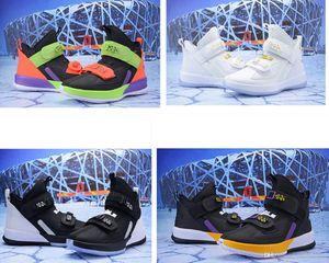 Lo que el lebron soldado 13 zapatos de baloncesto para hombre se vende lebrons xiii MVP Christmas BHM Oreo juvenil zapatillas de deporte para niños botas con caja original