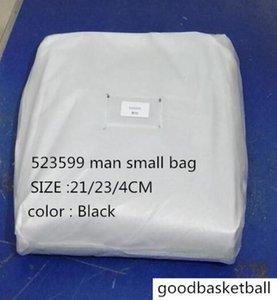 Лучшее качество 523599 Мужчина женщины Черного Коммуникатора мешочков ПВХ вскользь плечо кожи черные х триколора мешок плечо, размер: 21 * 23 * 4см