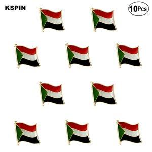 Sudan Flag-Revers Pin Flagge Abzeichen-Brosche Abzeichen 10st eine Menge
