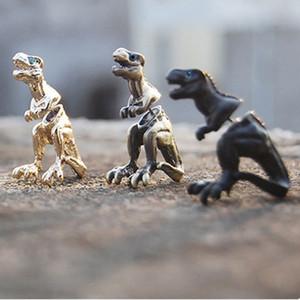 Moda Harajuku aleación estereoscópica Dragón Dinosaurio piercing pendientes stud Clip declaración de joyería para mujeres hombres joyería punk