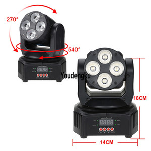 2PCS LED ديسكو RGBW نقل رئيس ضوء 4x10w 4 in1 بقيادة شعاع صغيرة غسل نقل رئيس المرحلة الخفيفة