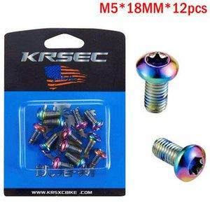 MTB disc screw color gold disc T25 screw disc brake pad M5 * 10MM screw accessories