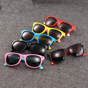 Quadro crianças polarizada silicone macio Sunglasses Meninos completa Sun Glasses Crianças Shades Outdoor curso de desporto Óculos LJJT1014