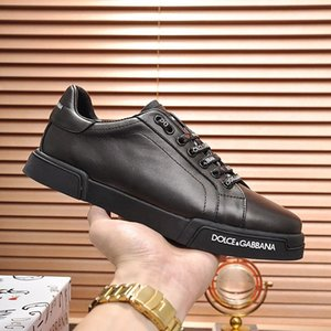Luxo Sapatos Masculinos Sneakers Outdoor Sports Footwears Lace-Up Design with Origem Box respirável bezerro Nappa Portofino Sneakers Shoes