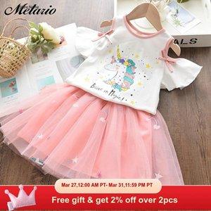 Melario Girls Dress Summer Unicorn Princess Dresses for Girl Kids Dress Cartoon Embroidery Baby Vestidos