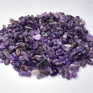 1 bolsa de 100 g Natural amatista cuarzo cristal de roca de piedra Tumbled piedra irregular (Tamaño: 7--9 mm)