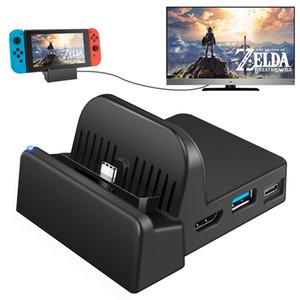Портативная зарядная подставка мини-переключатель док-станция ТВ конвертер зарядная док-станция кронштейн Play Stand держатель для Nintendo Switch