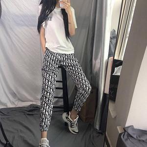 celebridad web desgaste de las nuevas mujeres del diseñador con el mismo estilo de los pantalones de moda al aire libre deportes ocasionales de los pantalones holgados de los pantalones estudiante de moda de lujo