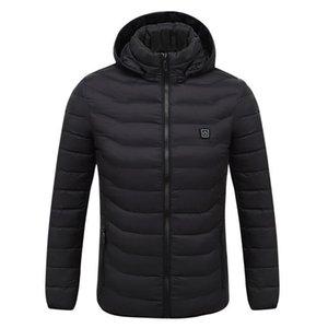 Jacket aquecida elétrica Roupa Homens Mulheres USB Baixa Tensão Temperatura ajustável Colete Quente térmica revestimento do inverno