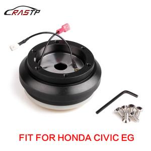 RASTP haute qualité Racing noir en aluminium Volant Adaptateur Hub avec 6 trous Patron Kit pour Honda Civic EG RS-QR010-EG