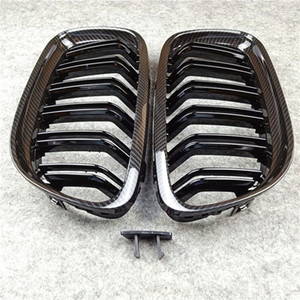 New for E90 car front grill for Bmw 3 series E90 ABS dual line Glossy black M Color car kidney grille 2008-2011