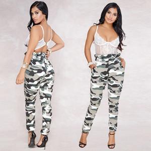 Kadınlar fırfır Kamuflaj Baskılı Pantolon Bahar Moda Sokak Stili Bayan Giyim Tasarımcısı Yüksek Bel