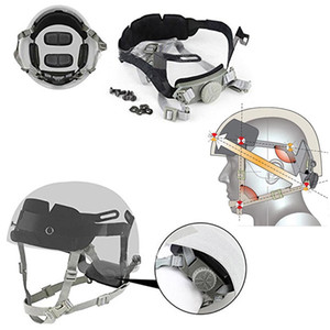 Airsoft Zahnrad Tactical Schnell Helm Innenmontage Kopfandrucksystem Cingulate Hanging System einwählen Liner Lock Strap System NO01-124