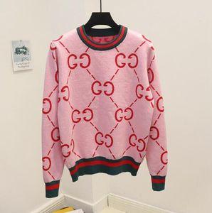 2019 alta de lã Multicolor Viscose NOVO Mulheres Meninas Camisolas tricotadas pulôver Jacquard tops de malha com listras malhas blusa camisas outwear