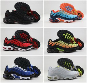 Designer 2020 Chaussures origine TN New Designs FASHION MENS Tns Chaussures de sport respirant Mesh Air Tn Plus Chaussures Chaussures Baskets Requin SpOrts