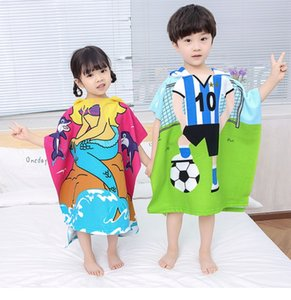 Bath Supplies kid Bath Towel cute cloak style 3D mermaid dinosaur shark rabbit Towel
