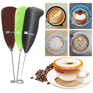 Electric Milk Frother With Whisk Handheld Foam Maker for Coffee Egg Latte Cappuccino Hot Chocolate Matcha Drink Mixer Blender