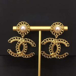 뜨거운 판매 새로운 진주 체인 중공 귀걸이 여성 패션 트렌드 귀걸이