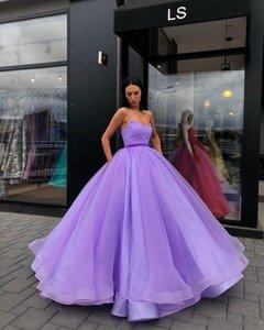 Simples colorido doce 16 vestido de baile quinceanera vestidos 2020 apliques varredores de trem plissados camadas tulle saudita árabe vestidos de baile