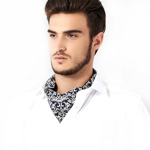 Foulard britannique européen et américain de la boîte-cadeau de la boîte-cadeau de l'écharpe pour hommes en polyester et soie, imprimé