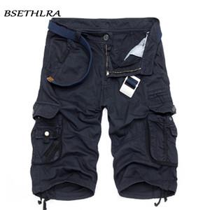 Bsethlra Yeni Erkekler Yaz Sıcak Satış Iş Kısa Pantolon Kamuflaj Askeri Marka Giyim Moda Erkek Kargo Şort 29-40 Q190427