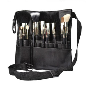 High quality PU Professional Cosmetic Makeup Brush Apron Bag With Artist Belt Strap Professional Bag Holder F3122
