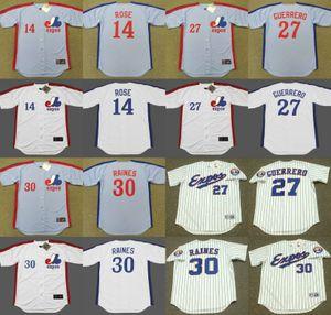 Montreal Expos 14 Pete Rosa 30 Tim Raines baseball Jersey 27 Vladimir Guerrero 17 Ellis Valentine 45 Steve Rogers 35 Woodie Fryman cucito