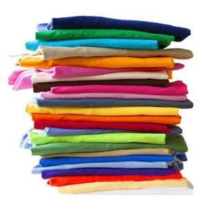 T-Shirt a cores sólidas Comércio por grosso de homens Brancos Negros Mulheres T-shirts de algodão