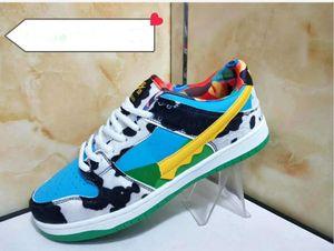 Men Women Casual Sports Shoes 2020 New Fashion Low Cut SB Leather Sneakers Outdoor Men Women Dunk Shoes Skateboard Shoes 36-44