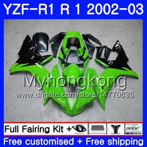 صندل ياماها YZF R 1 YZF 1000 YZF-1000 YZFR1 02 03 هيكل السيارة 237HM.12 YZF R1 02 YZF1000 YZF-R1 الأسهم الخضراء الخفيفة 2002 2003