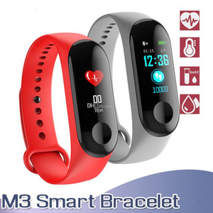 M3 Smart Bracelet Fitness Tracker with Heart Rate Watches for MI3 XIAOMI APPLE Watch Colorful LCD Display with Retail Box