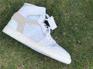 Commercio all'ingrosso di New bianche 1 Ho alta uomini scarpe da basket 1S di sport scarpe da ginnastica formatori formato esterno di alta qualità 7-12