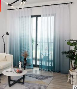 2020 heißer Verkauf Vorhang Einfache Farbverlauf Druck Fenster Garn