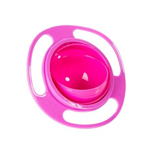 Baby Cute Baby Gyro Bowl Universal Rotate Spill Proof Bowl Kids Cups 35FP11