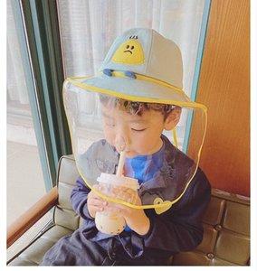 마스크 어린이 보호 캡 스플래쉬 증명 안면 보호 모자 아기 어린이 복장 새로운 2020 년 아동 어부의 모자