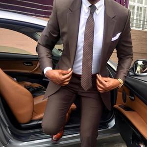 2019 잘 생긴 두 종 들러리 한 벌 Custom Made Moded Peaked 옷 깃 Slim Fit Business 망 한 벌 (Jacket + Pants)