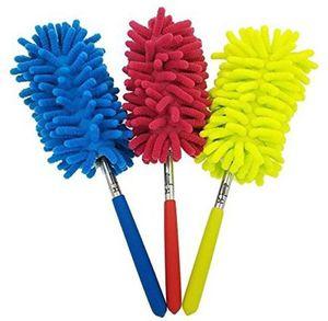 10 لون قابلة ستوكات تلسكوبي المنافض الشانيل تنظيف الغبار سطح المكتب الغبار المنزلية فرشاة سيارات معدات تنظيف