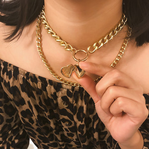 Монета Перл ожерелье Многослойного Vintage европейских Амулеты замок сердце кулон ювелирных изделия венчание пляж женщина партия Заявление ожерелье